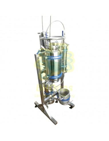 """Rack CC Extracción BHO Tubo 3"""" x 18"""" tanque recuperación y bobina condensación"""