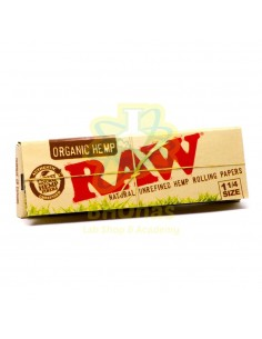Papel Raw Organic Hemp ¼