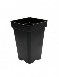 Maceta 18x18x25,5 5,5L Negra