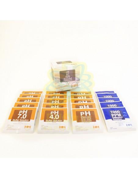 Pack Soluciones PH4,PH7,C-100,PH-STOR